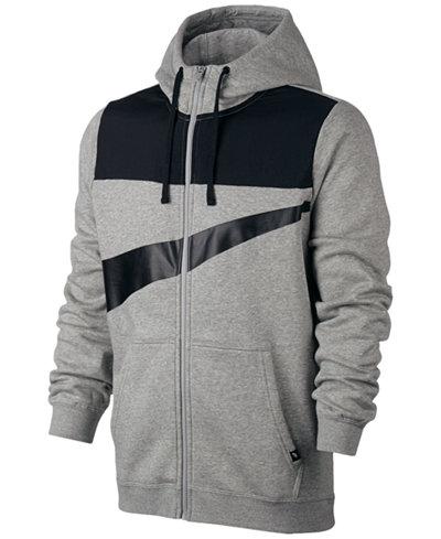 Nike club logo full zip hoodie