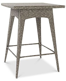 Dolben Outdoor Wicker Bar Table, Quick Ship