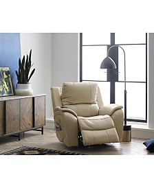 Karuse Leather Power Recliner with Power Headrest and USB Power Outlet