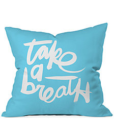 "Deny Designs Kal Barteski Take Blue 16"" Square Decorative Pillow"