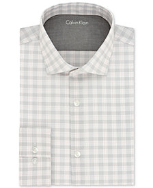 Calvin Klein Men's X Extra-Slim Fit Stretch Performance Melon Check Dress Shirt