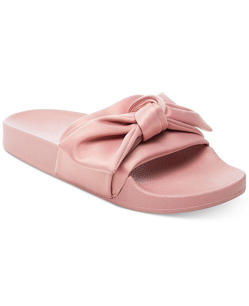 01d630e47ab Steve Madden Women s Silky Pool Slide Sandals   Reviews ...