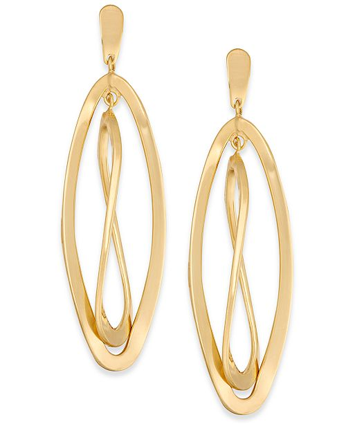 Macy's Twisted Oval Orbital Drop Earrings in 14k Gold