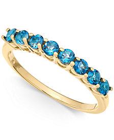 London Blue Topaz Ring (7/8 ct. t.w.) in 14k Gold