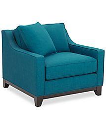 Keegan 90 Quot 2 Piece Fabric Sectional Sofa Furniture Macy S