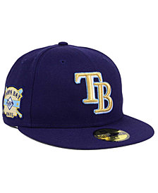 New Era Tampa Bay Rays Exclusive Gold Patch 59FIFTY Cap