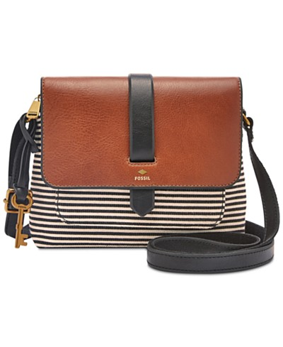Fossil Kinley Black Stripe Small Crossbody