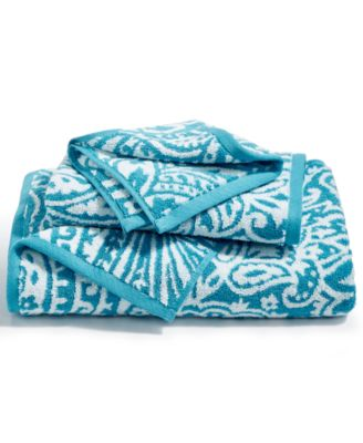 Elite Cotton Fashion Paisley Bath Towel, Created for Macy's