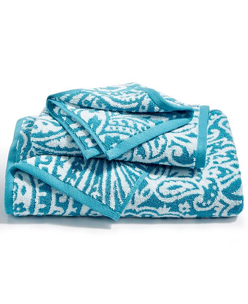 Charter Club  CLOSEOUT! Elite Cotton Fashion Paisley Bath Towel, Created for Macy's