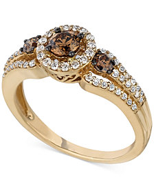 Le Vian Chocolatier® Diamond Ring (3/4 ct. t.w.) in 14k Gold