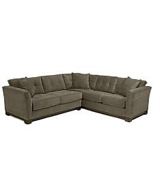 Elliot Fabric Microfiber 2 Piece Sectional Sofa Created For Macy S