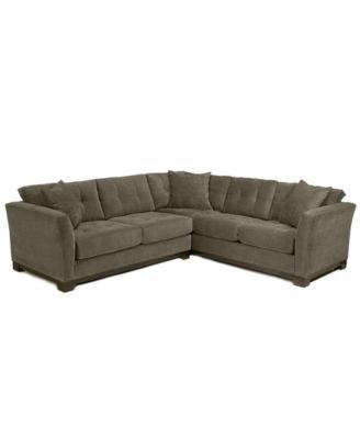 Genial Elliot Fabric Microfiber 2 Piece Sectional Sofa, Created For Macyu0027s