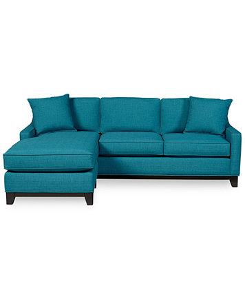 Keegan 90quot 2 piece fabric sectional sofa furniture macy39s for Keegan 2 piece sectional sofa