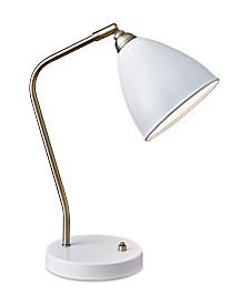 Adesso Chelsea Desk Lamp with USB Port