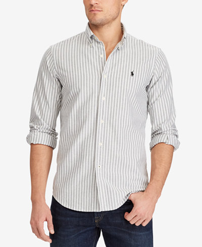 Polo Ralph Lauren Men's Standard Fit Cotton Shirt - Casual Button ...