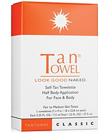 Half Body Classic Self-Tan Towelette, 5-Pk.