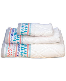 Dena Home Boho Cotton Jacquard Fingertip Towel