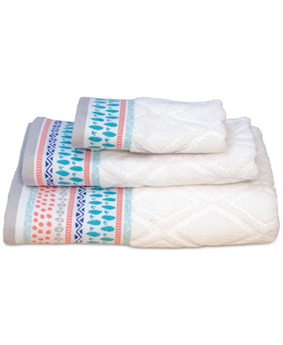 Dena Home Boho Cotton Jacquard Hand Towel
