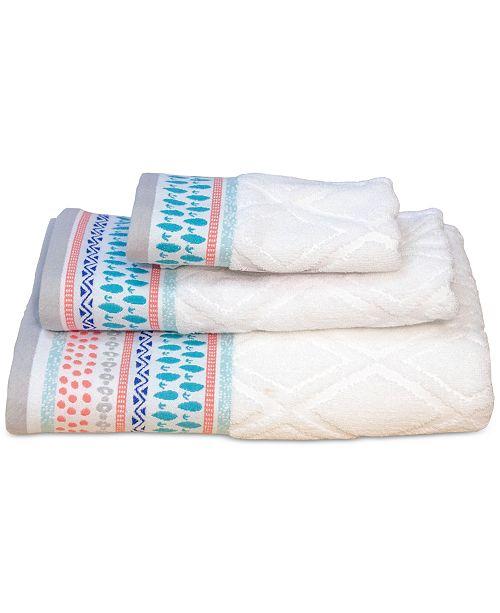 Dena Home Boho Cotton Jacquard Bath Towel