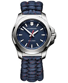Victorinox Swiss Army Women's I.N.O.X. Blue Paracord Strap Watch 37mm