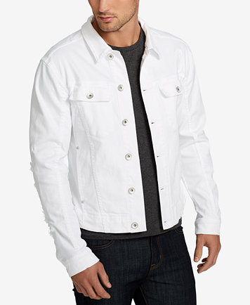 WILLIAM RAST Men's White Denim Jacket - Coats & Jackets - Men - Macy's