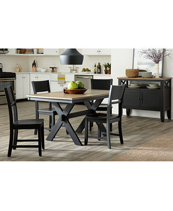 CLOSEOUT! Archer Dining Furniture, 5-Pc. Set (Dining Table & 4 ...