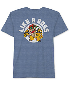 Nintendo's® Bowser-Print T-Shirt, Big Boys