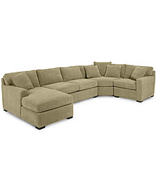Radley 4-Piece Fabric Chaise Sectional Sofa - Custom Colors, Created for Macy's