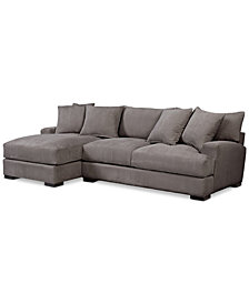 Rhyder 2-Pc. Fabric Sectional Sofa with Chaise, Created for Macy's