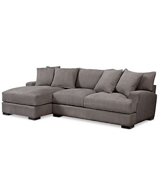 Furniture Rhyder 2 Pc Fabric Sectional Sofa With Chaise Created