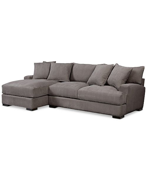 Furniture Rhyder 2-Pc. Fabric Sectional Sofa with Chaise, Created ...