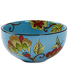 CLOSEOUT! Tabletops Unlimited Caprice Blue Cereal Bowl