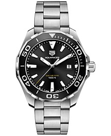 Men's Swiss Aquaracer Stainless Steel Bracelet Watch 43mm