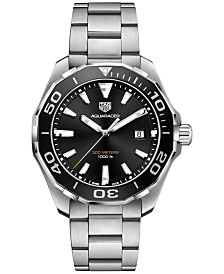 TAG Heuer Men's Swiss Aquaracer Stainless Steel Bracelet Watch 43mm