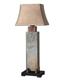 Tall Slate Table Lamp