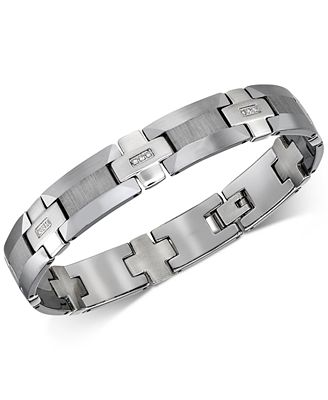 Esquire Men s Jewelry Diamond Link Bracelet 1 8 ct t w in