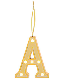 Ganz LED Light Up Marquee Initial Ornaments