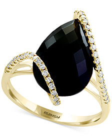 Eclipse by EFFY® Onyx & Diamond (1/5 ct. t.w.) Ring in 14k Gold