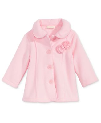 Image of First Impressions Collared Microfleece Coat, Baby Girls (0-24 months), Created for Macy's