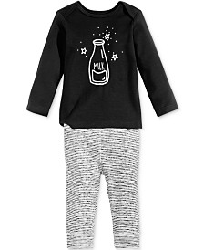 First Impressions Baby Boys & Girls 2-Pc. Milk Top & Leggings Set, Created for Macy's