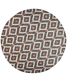 "CLOSEOUT! Bob Mackie Home 1016 Mocha Mirage 7'6"" Round Rug"