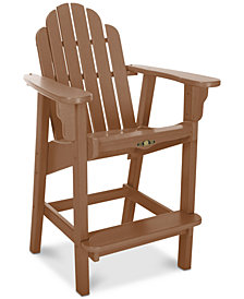 Essentials Counter Height Outdoor Adirondack Chair, Quick Ship