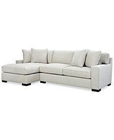 Bangor 2 Pc Sectional Sofa With Chaise Created For Macy S