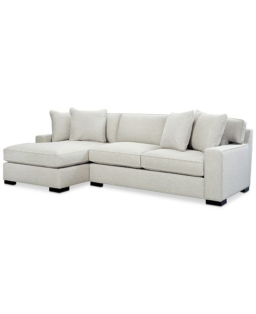 Furniture Bangor 2-Pc. Sectional Sofa with Chaise, Created for ...