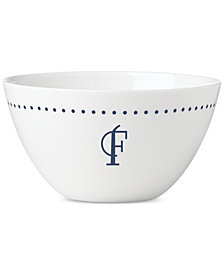 Lenox Navy Dots Monogram All-Purpose  Bowl
