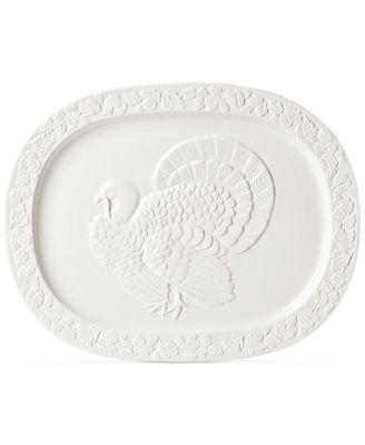 Martha Stewart Collection Harvest Turkey Platter, Created for Macy's