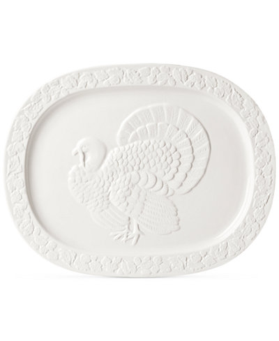 Martha Stewart Collection Harvest Turkey Platter, Created for Macy's