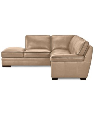 Myars 2-Pc. Leather Sectional w/ Chaise Only at Macyu0027s  sc 1 st  Macyu0027s : macys leather sectional - Sectionals, Sofas & Couches