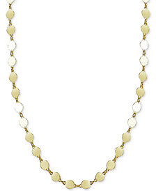 Giani Bernini Round Disc Choker Necklace, Created for Macy's