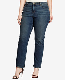 Lauren Ralph Lauren Plus Size Classic Stretch Straight-Leg Jeans